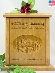 Wildlife Whitetail Buck & Doe Urn