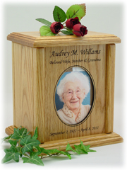 Simple Oval Photo Urn