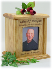 Simple Rectangle Photo Urn