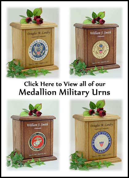 Medallion Military Urns