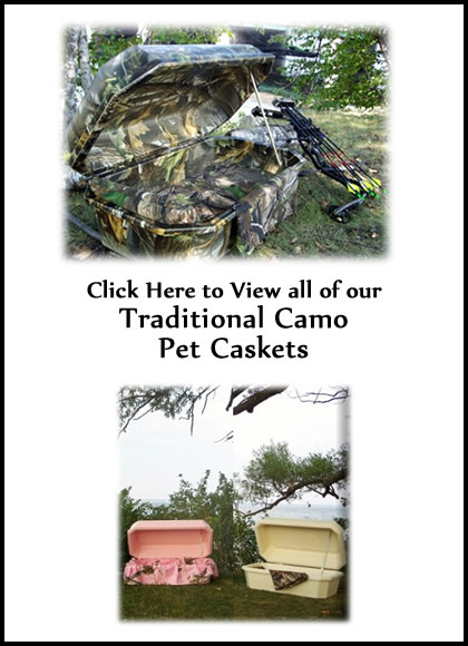 Traditional Camo Pet Caskets