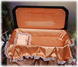 Deluxe Black and Gold Pet Casket
