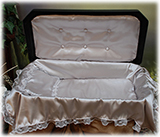 Deluxe Black and Silver Pet Casket