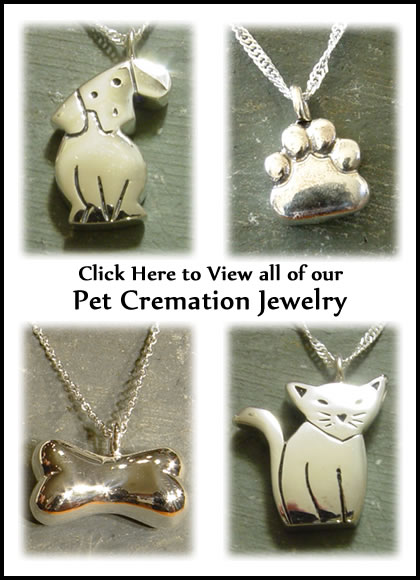 Pet Cremation Jewlery - Dog Cremation Jewlery - Cat Cremation Jewlery