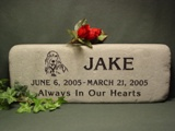Blue-Gray Flagstone Pet Grave Markers