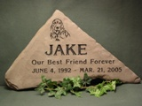 Lilac Flagstone Pet Grave Markers