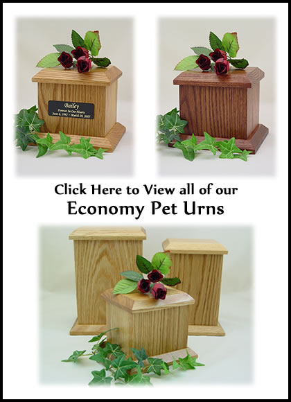 Low Cost Affordable Pet Urns - Economy Pet Urns