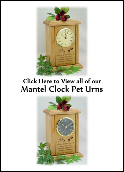 Mantel Clock Dog Urns