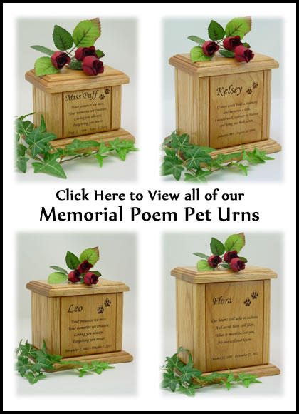 Memorial Poem Dog Urns