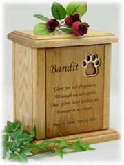 Pawprint Poem Pet Urn