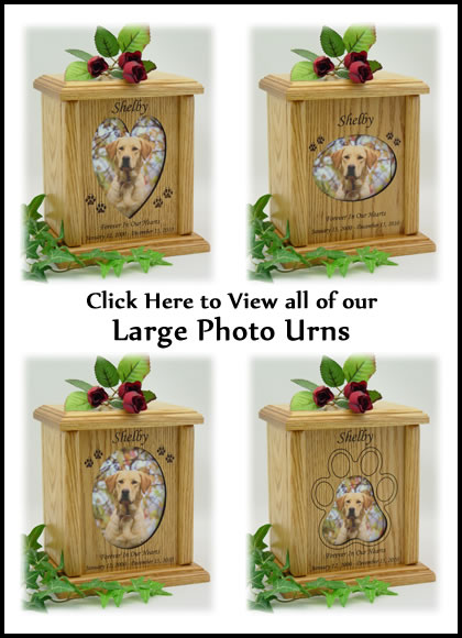Photo Pet Urns - Large Dog Urn