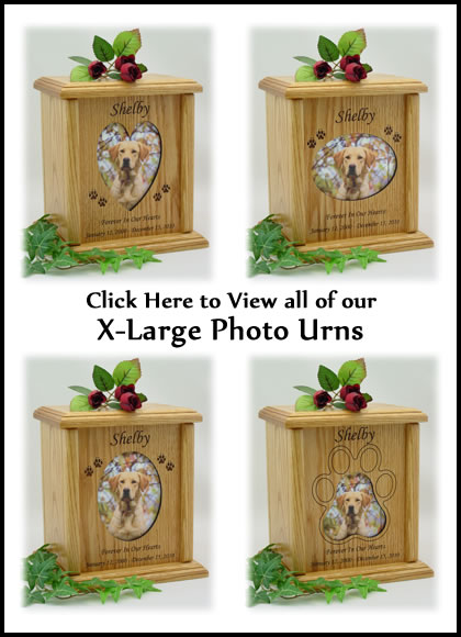 Photo Pet Urns - X-Large Dog Urn