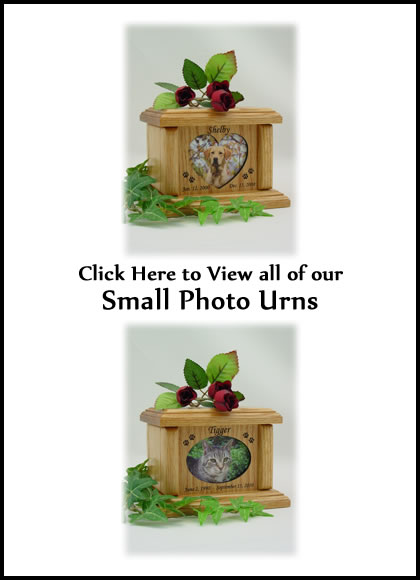 Photo Pet Urns - Small Cat or Dog Urn