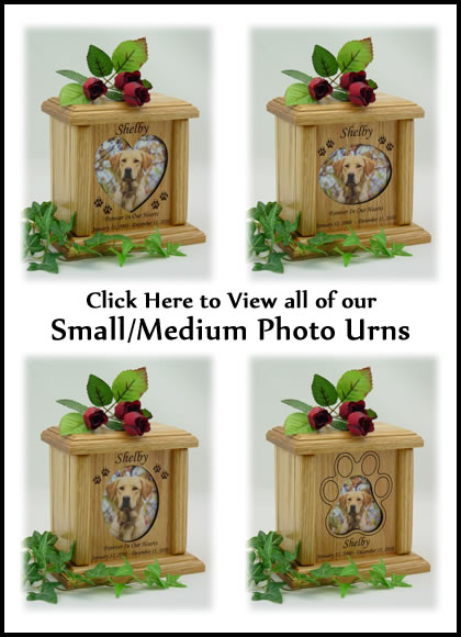 Photo Pet Urns - Small - Medium Cat or Dog Urn