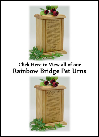 Rainbow Bridge Dog Urns